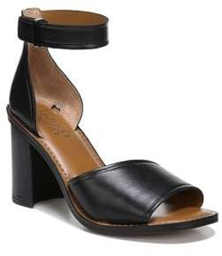 Franco Sarto Caia Block-Heel Leather Sandals