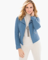 Chico's Boiled Wool Moto Jacket