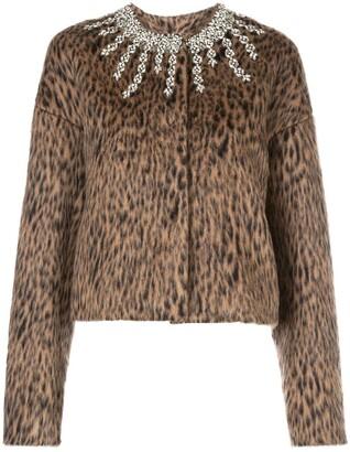 Giambattista Valli Embellished Leopard Print Jacket