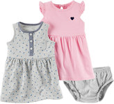 Carter's Baby Girl Dress & Bloomers Set