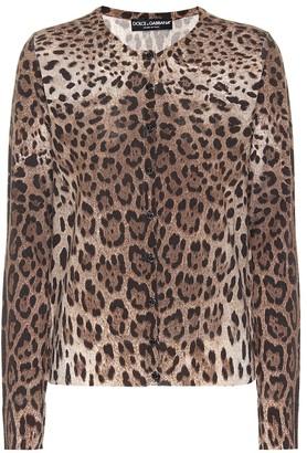Dolce & Gabbana Leopard-printed wool cardigan