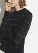 Striped Cashmere Fitted Crew