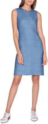 Akris Double Face Linen Crepe Sheath Dress