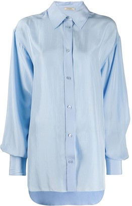 Nina Ricci Oversized Pointed Collar Shirt