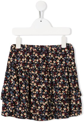 Bonpoint Mia floral tiered skirt