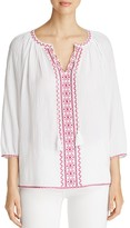 NYDJ Embroidered Peasant Blouse - 100% Exclusive