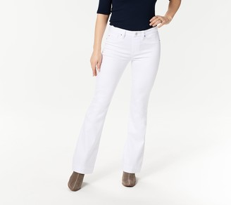 Laurie Felt Petite Color Silky Denim Flare Pull-On Jeans