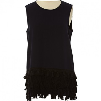 Y's Navy Polyester Tops