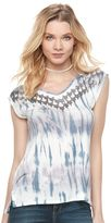 Rock & Republic Women's Sequin Tie-Dye Tee