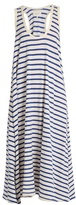 The Great The Swing striped cotton-jersey dress