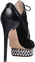 Nicholas Kirkwood Suede Platform Ankle Boots in Black