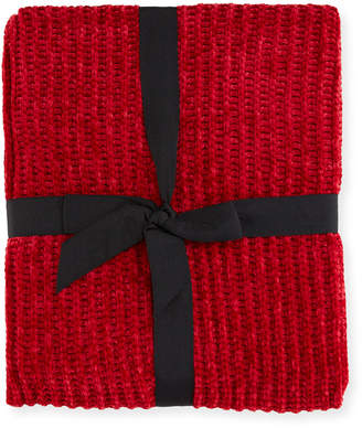 "Magaschoni Cable Knit Chenille Throw Blanket, 50"" x 60"""