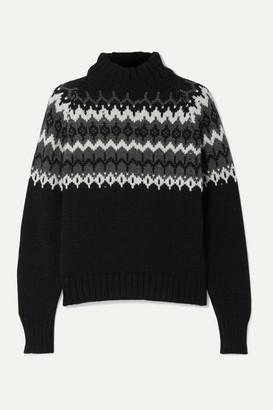 &Daughter Bansha Fair Isle Merino Wool Turtleneck Sweater - Black