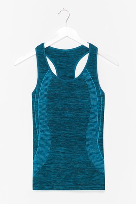 Nasty Gal Womens And Breathe Contrast Racerback Workout Top - Teal