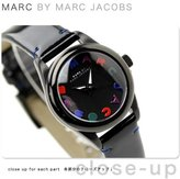 Marc by Marc Jacobs Black leather band watch MBM1193