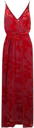 Galvan floral print draped gown