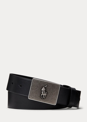 Ralph Lauren PRL Leather-Trim Cotton Belt