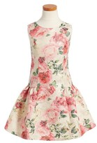 Iris & Ivy Toddler Girl's Floral Brocade Dress