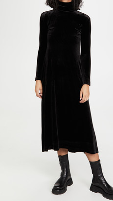 Norma Kamali Long Sleeve Turtleneck Swing Dress