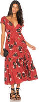 Free People All I Got Printed Maxi Dress in Red. - size 0 (also in 2,4,6,8)