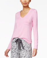 Alfani V-Neck Knit Pajama Top, Only at Macy's