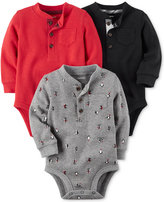 Carter's 3-Pk. Thermal Cotton Henley Bodysuits, Baby Boys (0-24 months)