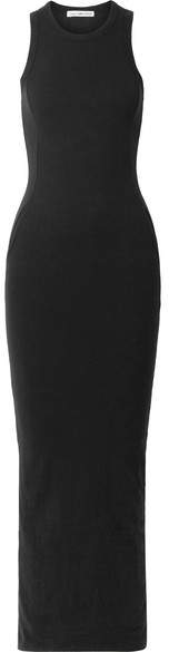 James Perse Stretch Cotton-blend Jersey Maxi Dress