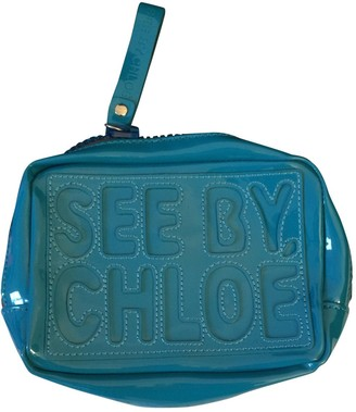 See by Chloe Turquoise Patent leather Clutch bags
