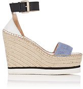 See by Chloe WOMEN'S DENIM & LEATHER ESPADRILLE SANDALS