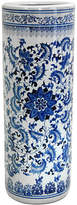 Asstd National Brand Oriental Furniture 24 Floral Blue & White Porcelain Umbrella Stand