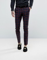 Noose & Monkey Super Skinny Suit Pants In Check