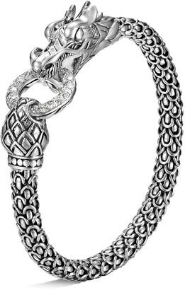 John Hardy Diamond silver scaly dragon bracelet