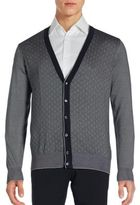 Brioni Textured Cotton Blend Long Sleeve Cardigan