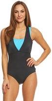 Reebok Women's On the Double One Piece Swimsuit 8151511