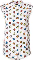 Love Moschino hear print sleeveless shirt