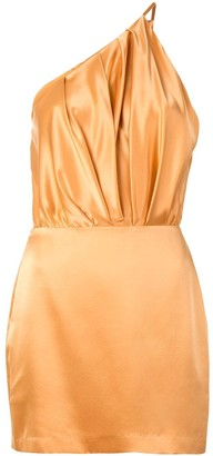 Mason by Michelle Mason One Shoulder Silk Dress