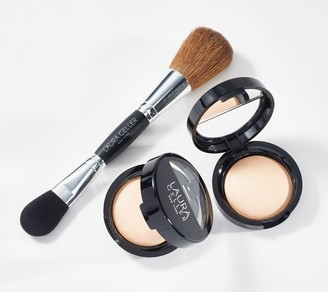 Laura Geller French Vanilla Baked Highlighter Duo with Brush