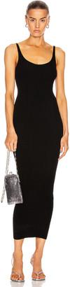 Paco Rabanne Rib Sleeveless Maxi Dress in Black | FWRD