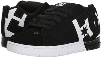 DC Court Graffik SQ (Black/White/Black 2) Men's Skate Shoes