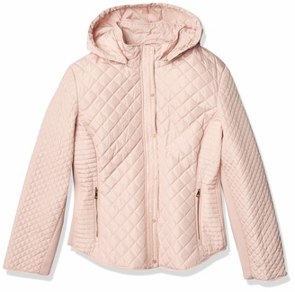 Calvin Klein Women's Quilted Jacket with Removable Hood