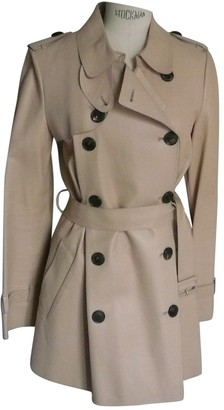 Christian Dior Beige Leather Trench Coat for Women