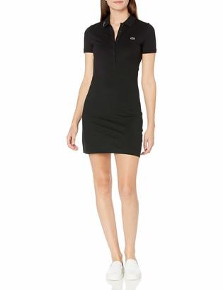 Lacoste Womens Logomania Graphic On Collar Polo Dress Casual Dress