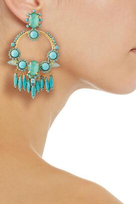 Elizabeth Cole 24-karat Gold-plated, Swarovski Crystal And Stone Earrings
