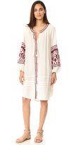 Free People In the Clear Embroidered Shirtdress