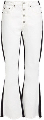 MM6 MAISON MARGIELA Two-tone High-rise Flared Jeans