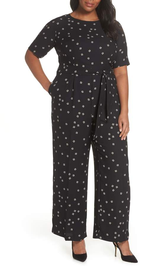 Ditsy Belted Jumpsuit