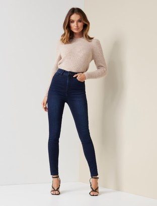 Forever New Bella High-Rise Sculpting Jeans - Rio Blue Black - 10