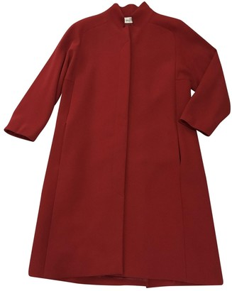 Valentino Red Wool Coat for Women Vintage
