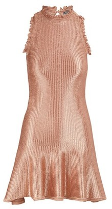 Alexander McQueen Metallic mini dress