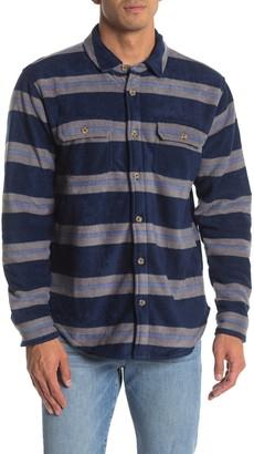 Valor Collective Sante Fe Striped Regular Fit Faux Fur Lined Shirt